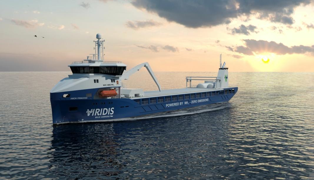 Viridis satser på å bestille sine ammoniakk-drevne skip neste år, og ha dem i trafikk i 2024.