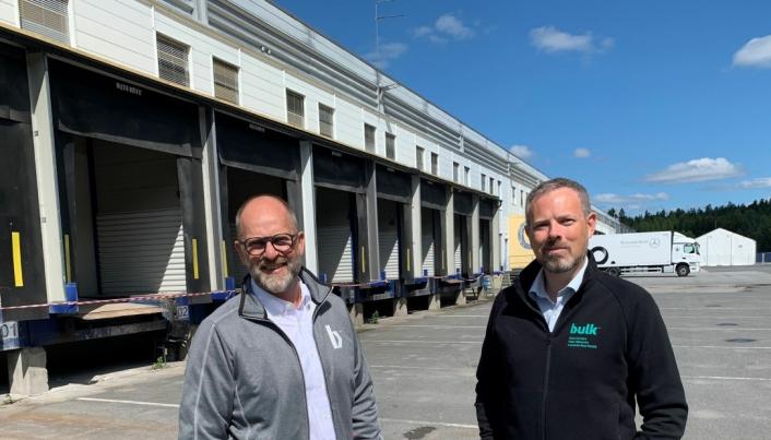 Hovedeier Peder Nærbø (t.v) og CEO Jon Gravråk i Bulk Infrastructure Group AS.