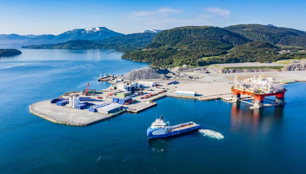 Kristiansund Base er blant de seks som har fått tilskudd for effektive og miljøvennlige havner.