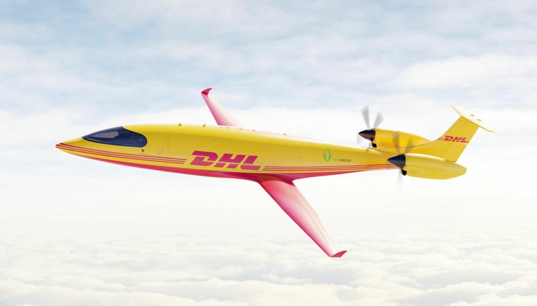 DHL Express har bestilt 12 fullt elektriske Alice eCargo-fly fra Eviation.
