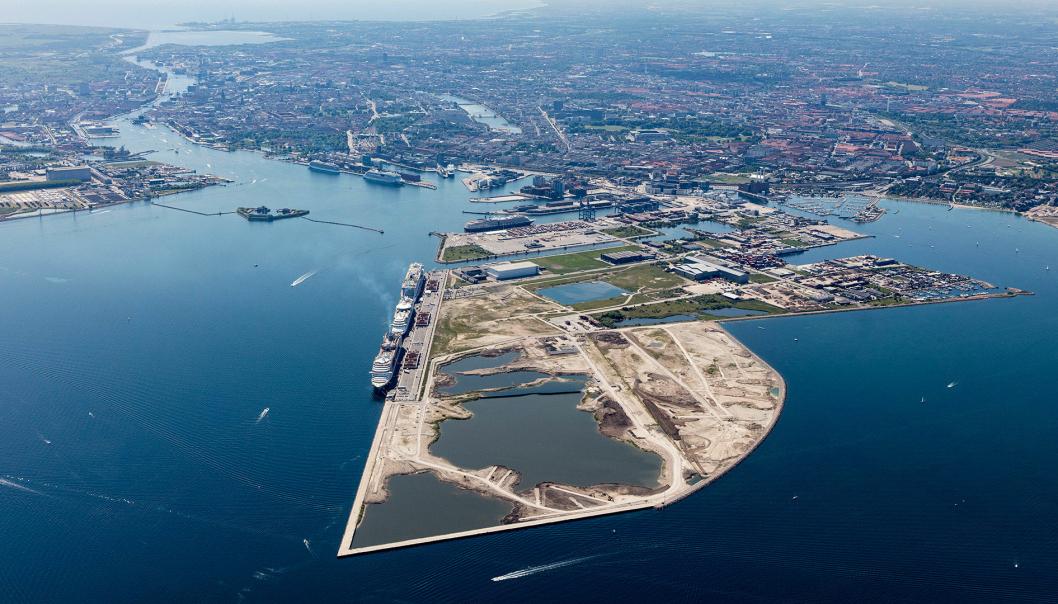 Ytterst på tuppen av Nordhavn skal det bygges ny containerterminal på et område som er i ferd med å fylles ut. Dagens containerterhavn med tre kraner kan sees litt lenger inn på halvøya.