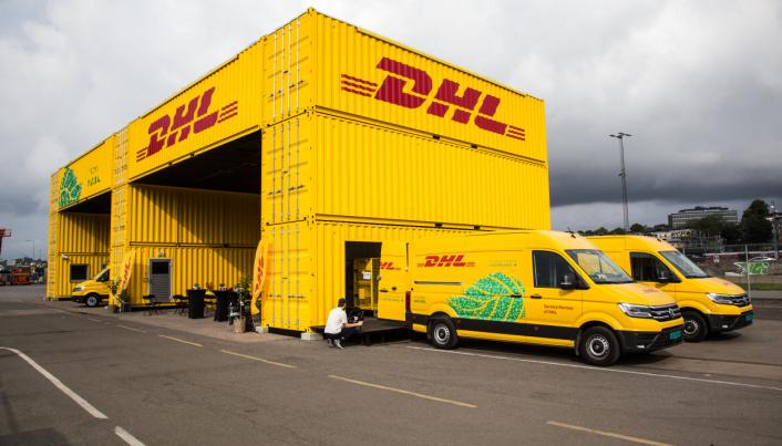 SYNLIG: DHL Express Oslo City Hub ligger på Filipstad, midt mellom de tilsvarende anleggene til DB Schenker og Posten/Bring.
