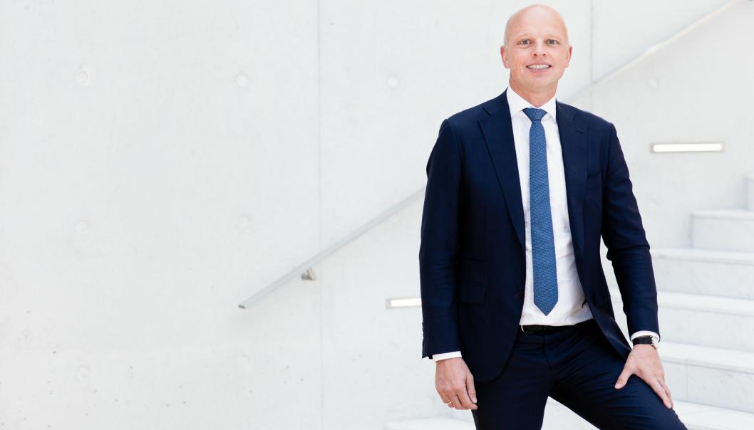 Jens H. Lund, CFO I DSV, forteller uten blygsel om ønsker om videre oppkjøpt og at DB Schenker er særdeles interessant.