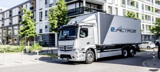 Mercedes eActros klar for serieproduksjon