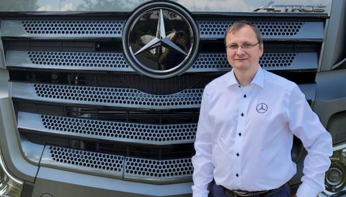 E-MOBILITET: Sebastian Blum er ansatt som leder E-Mobilitet, Bertel O. Steen Lastebil og Buss.
