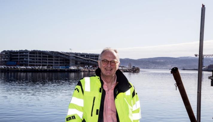 Havnedirektør Einar Olsen i Drammen Havn.