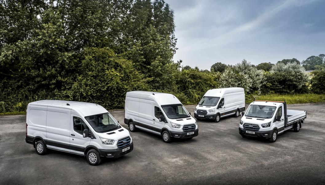 Ford E-Transit skal ha en rekkevidde på opptil 350 km.