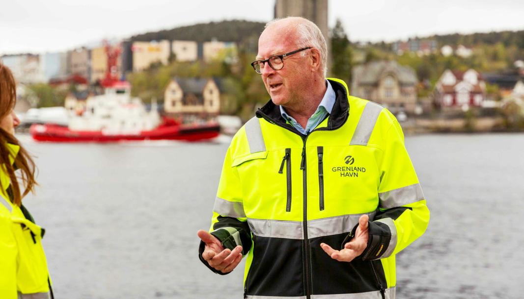 Finn Flogstad har vært havnedirektør i Grenland havn i 20 år, før han gikk av med pensjon i sommer.