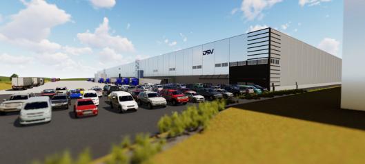 DSV bygger nytt gigantlager