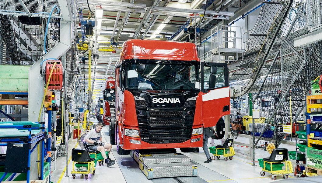 Illustrasjonsbilde fra en av Scanias fabrikker.Foto: Scania CV AB