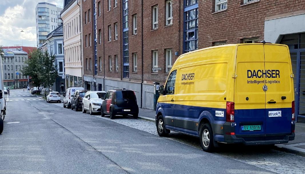 Dachser bruker i dag to VW eCrafter i Oslo, og snart skal en elektrisk lastebil settes i drift.