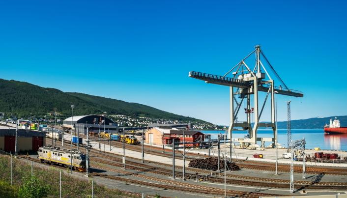 RASK TRANSIT: Halvannet døgn vil toget bruke fra terminalen i Narvik til Padborg på den tysk-danske grensen.