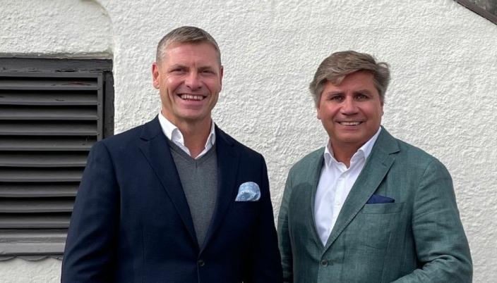 Dag Klem i Bulk Industrial Real Estate og styreleder i Lettbutikk, Tom Hauge.