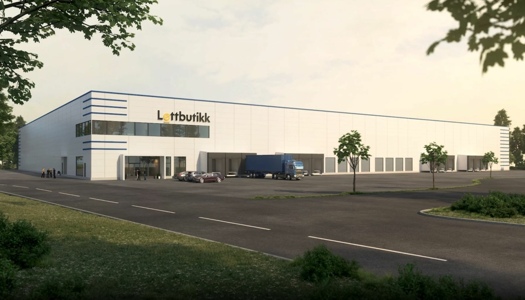 Det nye lageret til Lettbutikk skal stå klart i mai 2022.