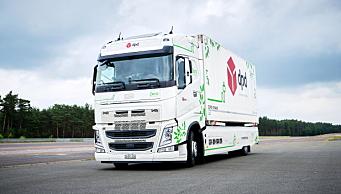 Verdensrekord i rekkevidde for elektrisk lastebil