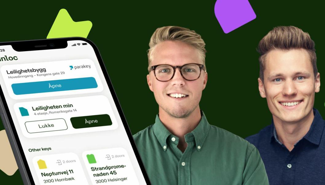 Norske Unloc inngår samarbeid med svenske Parakey, her representert ved CEO-ene Jonas Arvidsson (til venstre, Parakey) og Kris Riise fra Unloc.
