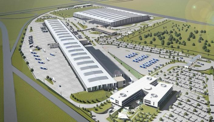 Med totalt 130.000 kvadratmeter, skal det nye DSV-anlegget være det største av sitt slag i Afrika.