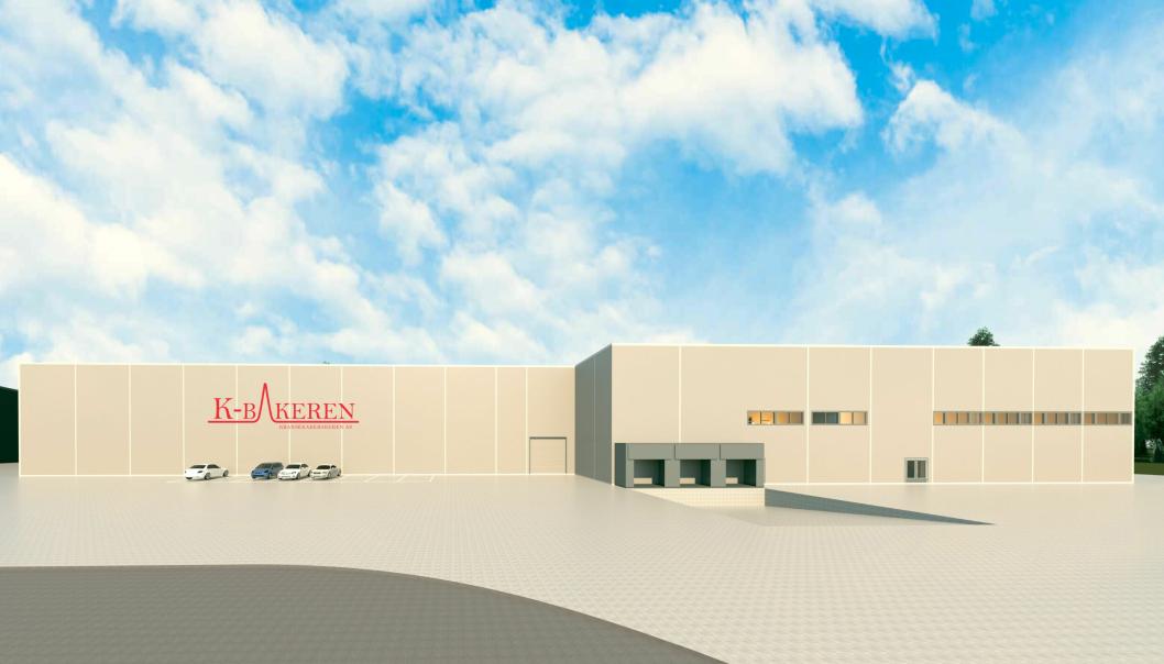 Kransekakebakerens nye produksjons- og lagerlokaler blir på 4000 kvadratmeter.