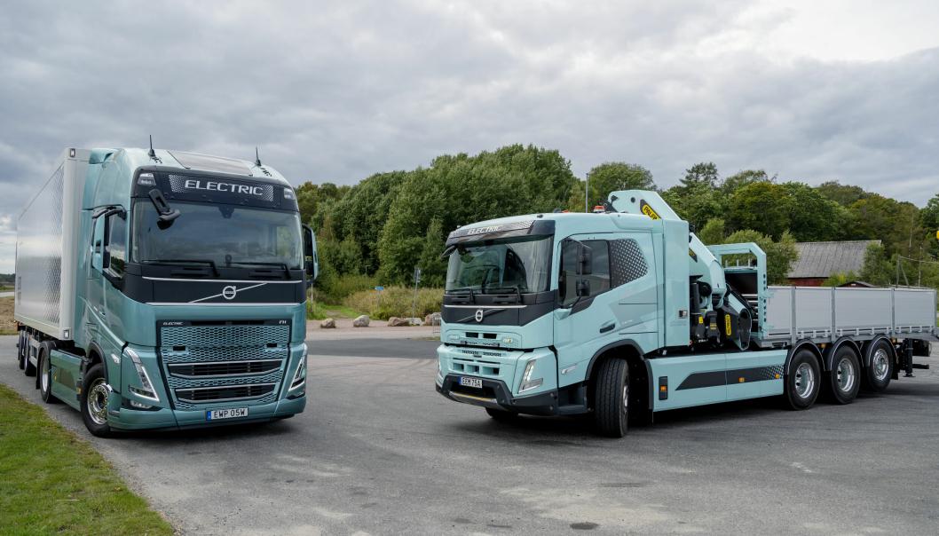 Volvo har lansert mange elektrisk drevne lastebiler de siste månedene.