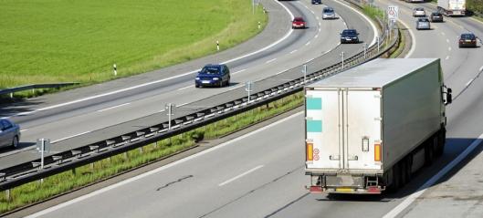 Halvparten av godset på vei – mye rør i Norge