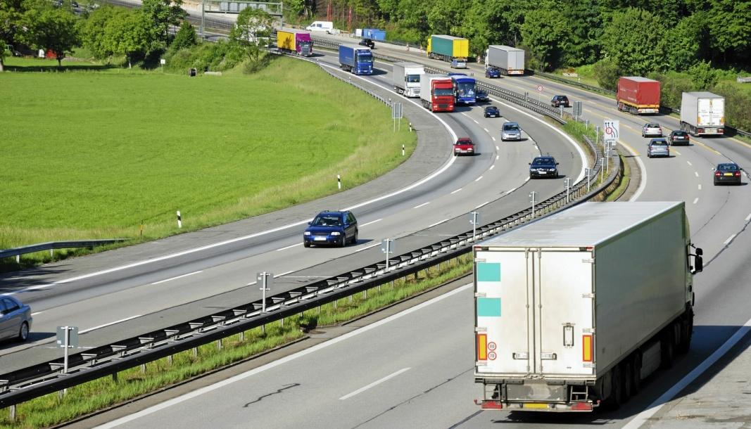 Lastebiler besørger rundt halvparten av transportarbeidet i EU.