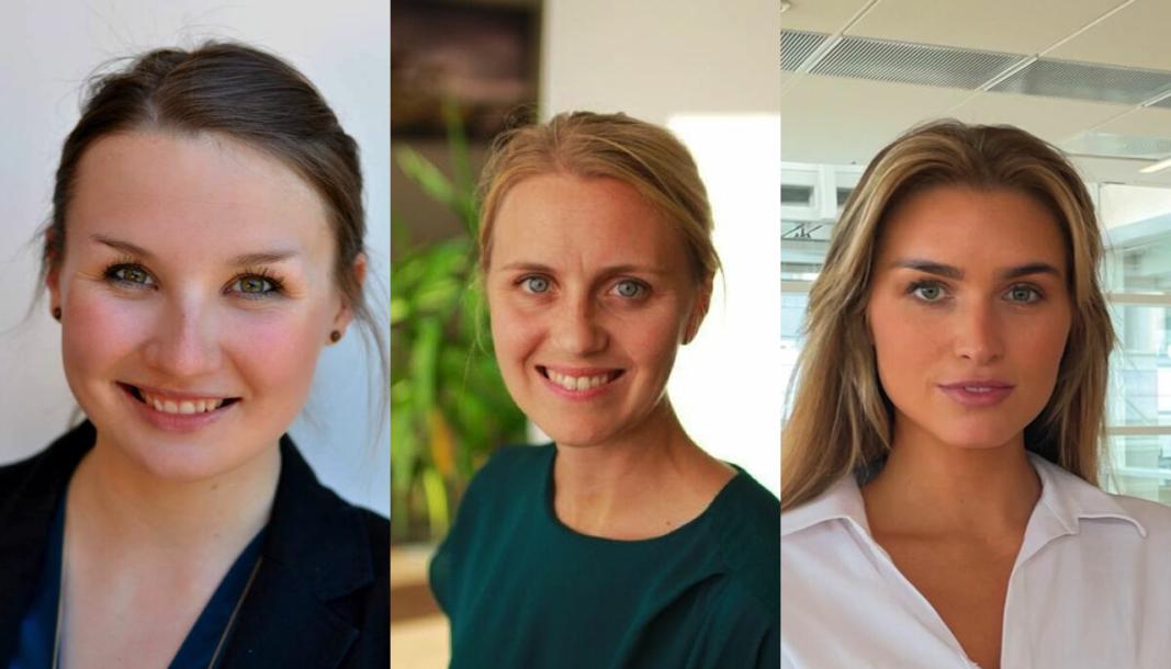 ANSETTER: Helthjem ruster opp for videre vekst. f.v. Freya Medewitz, Katrine Lunde og Synne Haugrønning Braa.