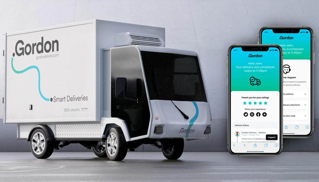 Gordon Delivery tilbyr både fysiske leveranser og en tech-plattform for last mile-leveranser.
