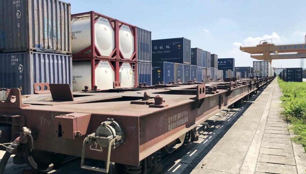 ColliCare med tog fra Nanning i Kina til Kaliningrad med videre sjøtransport til Oslo.