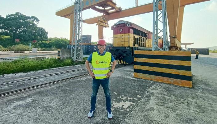 Administrerende direktør for ColliCare i Kina, Eddie Wang, er mannen som gjør togtransport til Norge mulig.