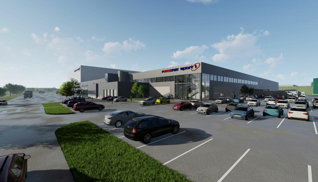 Sport Holding skal samlokalisere sine lagre på Kløfta og Askim i det nye anlegget på Gardermoen.